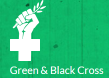 Green & Black Cross